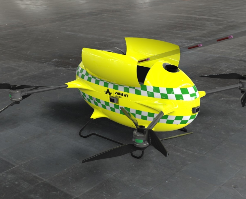 Drone blodprøver - airliftsolutions.no